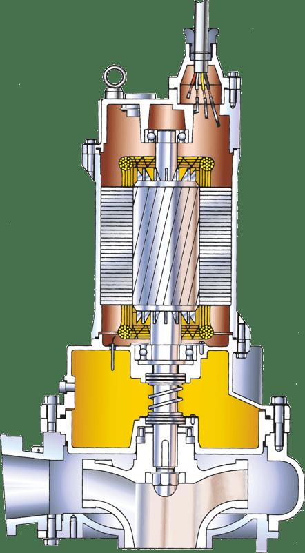 fo-showfou-submersible-sewage-pump-sketch-drawing